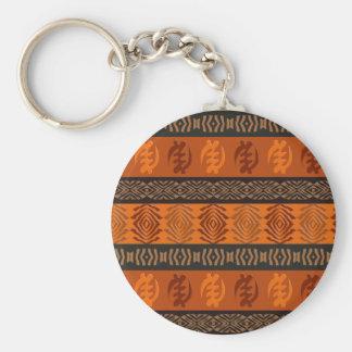 Chaveiro Teste padrão tribal africano étnico. Adinkra.