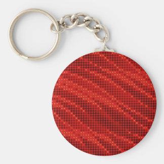 Chaveiro Teste padrão vermelho vibrante do ponto & de onda
