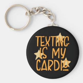 Chaveiro Texting é meu cardio-