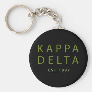 Chaveiro Tipo moderno do delta do Kappa