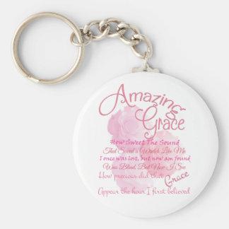 Chaveiro Tipografia bonita do rosa do rosa da benevolência