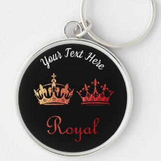 Chaveiro Tipografia do ouro: Coroas reais
