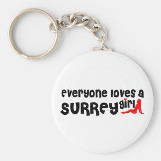 Chaveiro Todos ama uma menina de Surrey