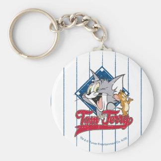 Chaveiro Tom e Jerry | Tom e Jerry no diamante de basebol