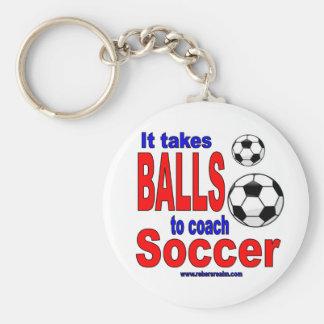 Chaveiro Toma bolas ao futebol do treinador