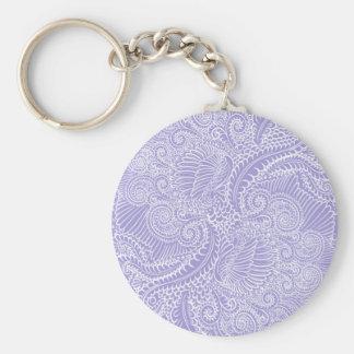 Chaveiro Torções florais azuis do Lilac