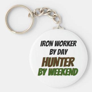 Chaveiro Trabalhador do ferro pelo caçador do dia em o fim