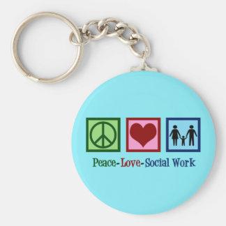 Chaveiro Trabalho social do amor da paz