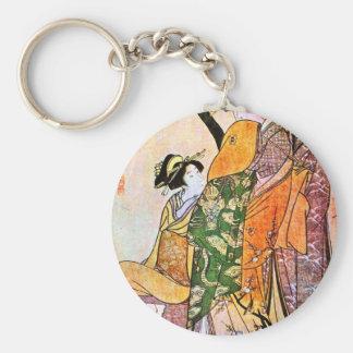 Chaveiro Trabalhos de arte japoneses da gueixa do vintage