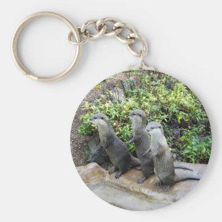 Chaveiro Três lontras eretas sábias,
