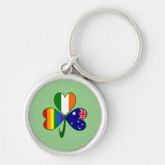 Chaveiro Trevo irlandês australiano do orgulho gay