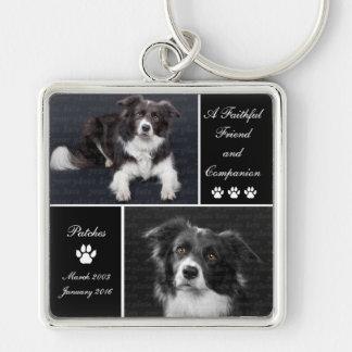 Chaveiro Tributo memorável da foto do cão do animal de