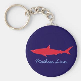 Chaveiro tubarão conhecido personalizado