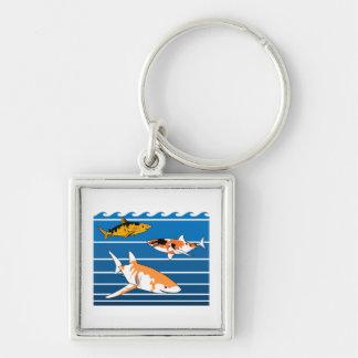 Chaveiro Tubarões de Koi