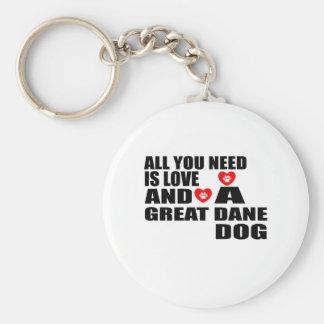 Chaveiro Tudo você precisa o design dos cães de GREAT DANE