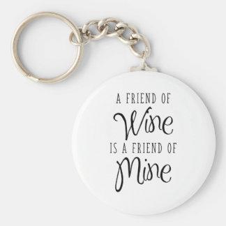 Chaveiro Um amigo do vinho é um amigo meu