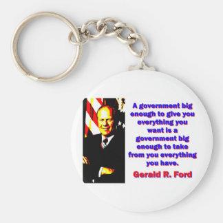 Chaveiro Um governo - Gerald Ford grande bastante