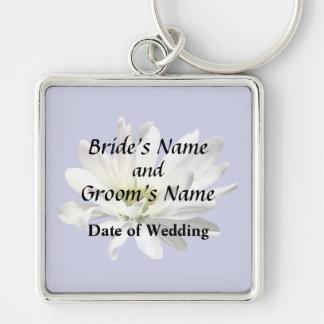 Chaveiro Únicos produtos do casamento da margarida branca