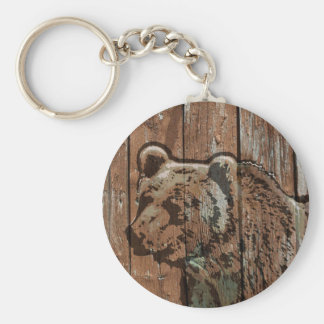 Chaveiro Urso de madeira rústico