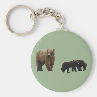 Chaveiro Urso de Momma e corrente chave dos filhotes