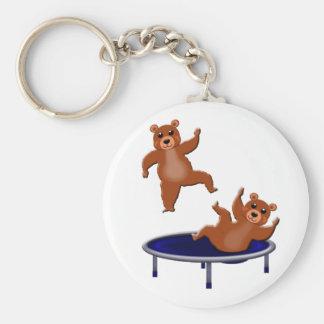 Chaveiro ursos trampolining