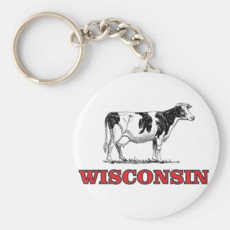 Chaveiro vaca vermelha de Wisconsin