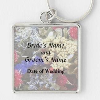 Chaveiro Variedade das flores secadas que Wedding fontes