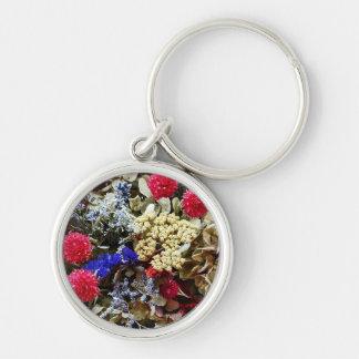 Chaveiro Variedade de flores secadas