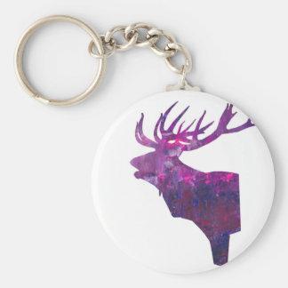Chaveiro Veado principal dos cervos no lilac