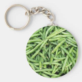 Chaveiro Vegetariano verde orgânico Vegitarian dos feijões