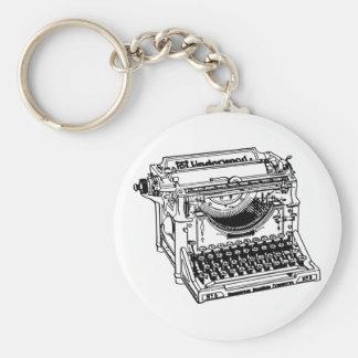 Chaveiro velho da máquina de escrever