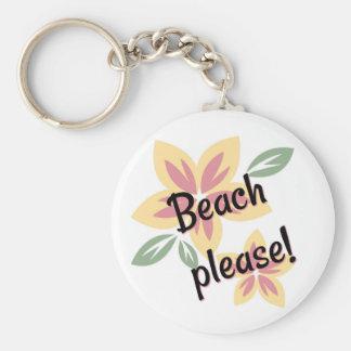 Chaveiro Verão floral - praia por favor