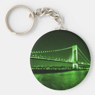 Chaveiro verde da ponte de Kelly