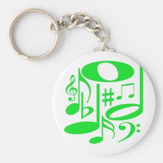 Chaveiro verde musical
