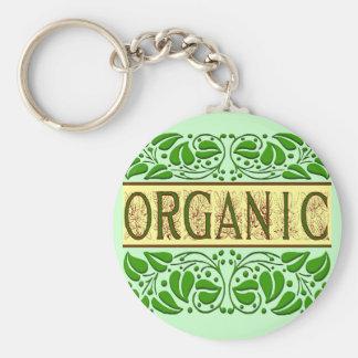 Chaveiro verde orgânico do slogan