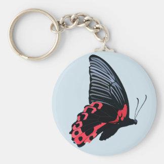 Chaveiro vermelho da borboleta - azul