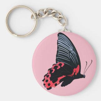 Chaveiro vermelho da borboleta - rosa