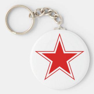 Chaveiro vermelho da estrela da aviação soviética