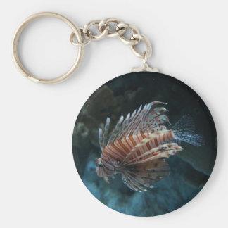 Chaveiro vermelho do botão do Lionfish