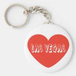Chaveiro vermelho do coração de Las Vegas Nevada d