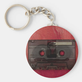 Chaveiro Vermelho do vintage da música da cassete de banda