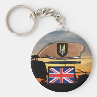 Chaveiro veteranos especiais britânicos da boina do crachá