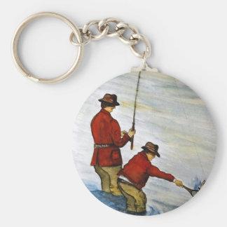 Chaveiro Viagem de pesca do pai e do filho