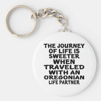 Chaveiro Viajado com um sócio da vida de Oregonian