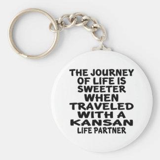 Chaveiro Viajado com um sócio da vida do Kansan