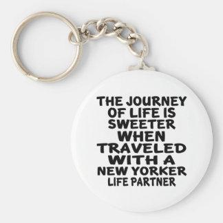 Chaveiro Viajado com um sócio da vida do Nova-iorquino