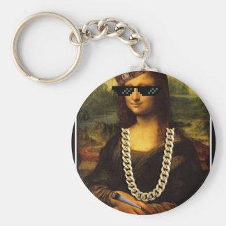 Chaveiro Vida da arte da vida do vândalo de Mona Lisa