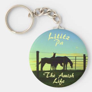 Chaveiro Vida de Amish, cavalos Ketchain de Lititz