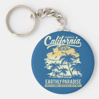 Chaveiro Vida na praia infinita de Califórnia do verão do