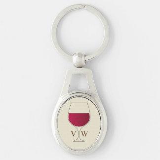 Chaveiro Vidro do vinho tinto personalizado